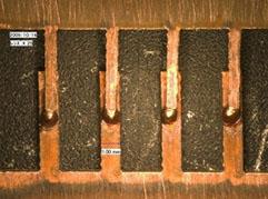 銅端子の溶接
