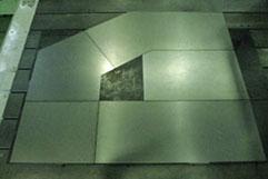 5枚接合のテーラードブランク (CO2レーザ)