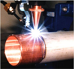 Dissimilar metal welding (SUS and CU)